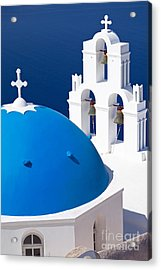 Blue Dome Church Acrylic Print