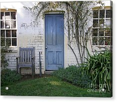 Blue Door Acrylic Print by Bev Conover