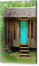 Blue Door Acrylic Print by Carolyn Derstine
