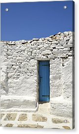 Blue Door Acrylic Print by Corinne Rhode
