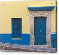 Blue Door Acrylic Print by Douglas J Fisher