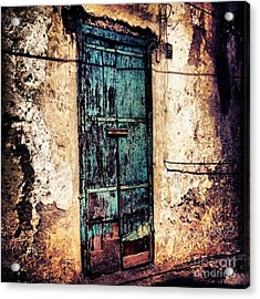 Blue Door Acrylic Print by H Hoffman