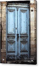 Blue Door In Limassol Acrylic Print by John Rizzuto