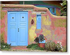 Blue Door In Ranchos Acrylic Print