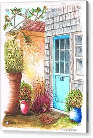 Blue Door In Venice Beach, California Acrylic Print