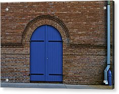 Blue Door Acrylic Print by John Babis