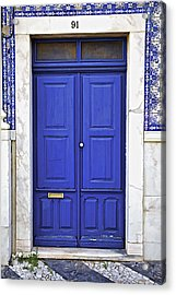 Blue Door Of Estremoz  Acrylic Print