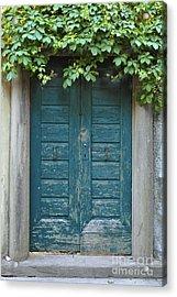 Blue Door Acrylic Print by Sarah Christian