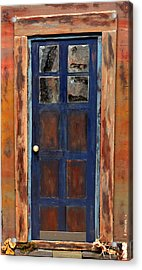 Blue Door Wyoming Acrylic Print