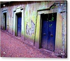 Blue Doors Acrylic Print by C Lythgo