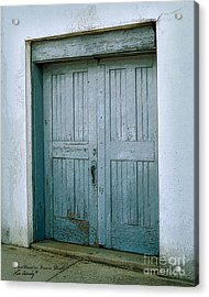 Blue Doors On Brewer Street Acrylic Print
