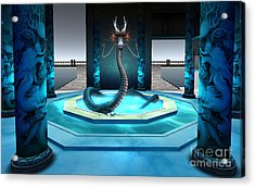 Blue Dragon Acrylic Print