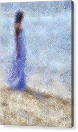Blue Dream. Impressionism Acrylic Print by Jenny Rainbow