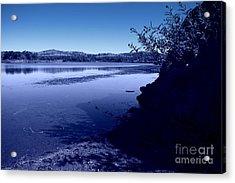 Blue Dusk Acrylic Print by Mickey Harkins