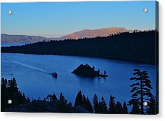 Blue Emerald Bay Lake Tahoe Acrylic Print
