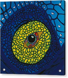 Blue Eye Acrylic Print by Patrick OLeary