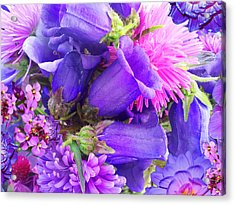 Blue Fairy Bells Acrylic Print