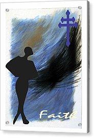 Blue Faith Acrylic Print by Lynn Darnelle