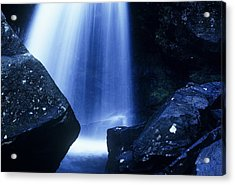 Acrylic Print featuring the photograph Blue Falls by Rodney Lee Williams
