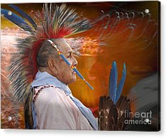 Blue Feather Acrylic Print by Angelika Drake