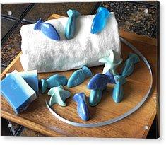Blue Fish Mini Soap Acrylic Print by Anastasiya Malakhova