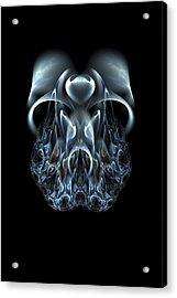 Blue Flame Skull Acrylic Print