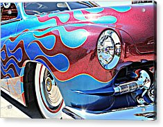 Blue Flamed Merc Acrylic Print