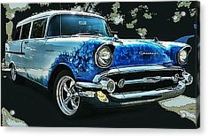 Blue Flames '57 Acrylic Print by Victor Montgomery