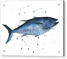 Blue Flash Tuna Acrylic Print