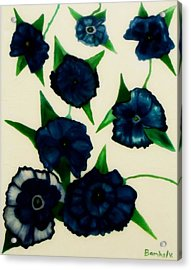 Blue Floral Burst Acrylic Print