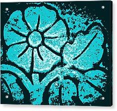 Blue Flower Acrylic Print by Chris Berry
