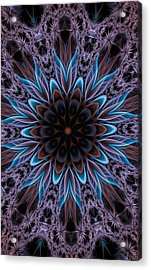 Acrylic Print featuring the digital art Blue Flower by Lilia D