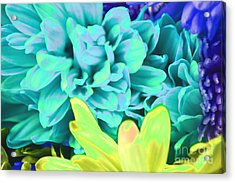 Blue Flower Acrylic Print by LLaura Burge