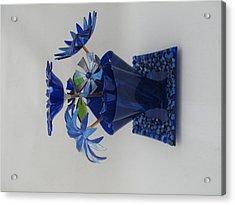 Blue Flowers Acrylic Print by Steven Schramek