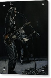 Blue For The Blues Acrylic Print by Patricio Lazen