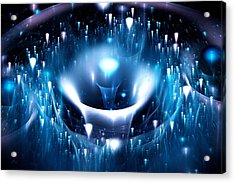 Blue Fountain Acrylic Print by Anastasiya Malakhova