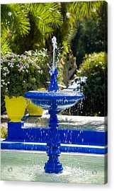 Blue Fountain Acrylic Print