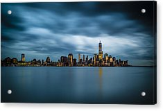 Blue Freedom Tower Acrylic Print by Chris Halford