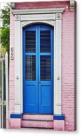 Blue Front Door New Orleans Acrylic Print