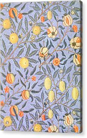 Blue Fruit Acrylic Print by William Morris