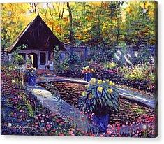 Blue Garden Impression Acrylic Print by David Lloyd Glover