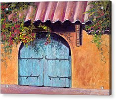 Blue Gate Acrylic Print by Julie Maas