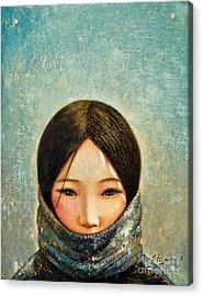 Blue Girl Acrylic Print