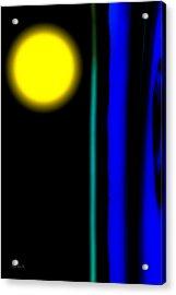 Blue Glass Acrylic Print by Bob Orsillo