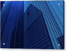Blue Glass Building Acrylic Print by Mmdi