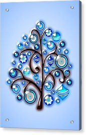 Blue Glass Ornaments Acrylic Print