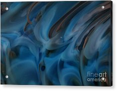 Blue Glass Waves Acrylic Print