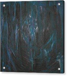 Blue Glass Acrylic Print by Wayne Carlisi