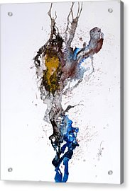Blue-gold 06 Acrylic Print by David W Coffin