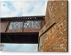 Acrylic Print featuring the photograph Blue Graffiti by Lena Wilhite